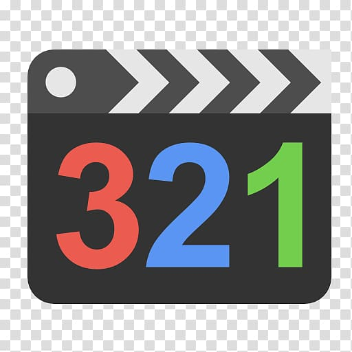 Black clap board with 321 number illustration, text brand.
