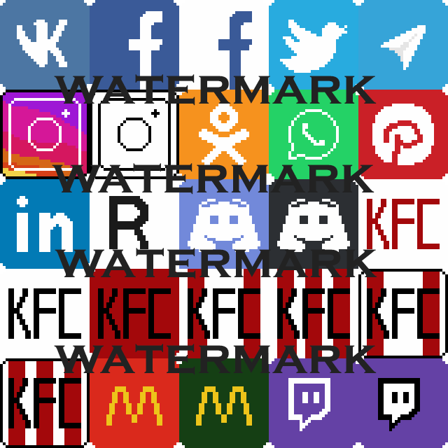Pixel Social Network and Brand Icons 32x32 by assa.