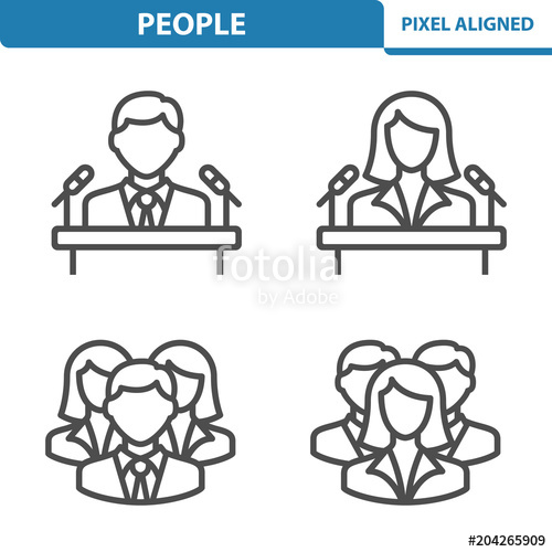 People Icons. Professional, pixel perfect icons EPS 10.