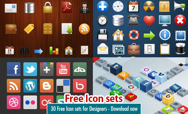 30 Free Icon sets for graphic and web designers.