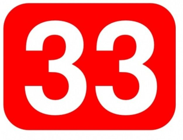 free images of number 33.