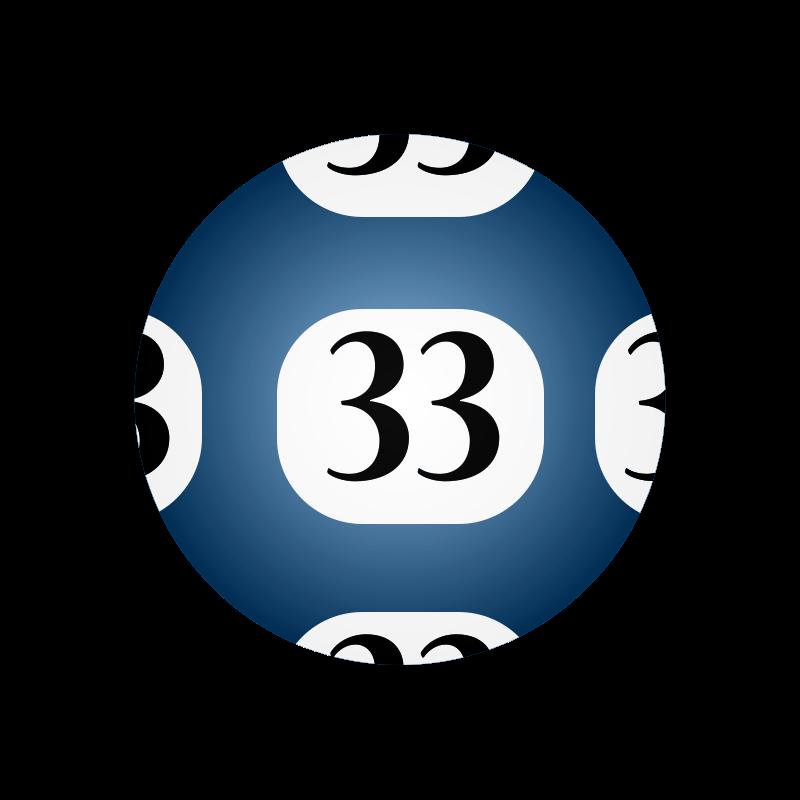 Free Clipart: #33 Lotto Ball.