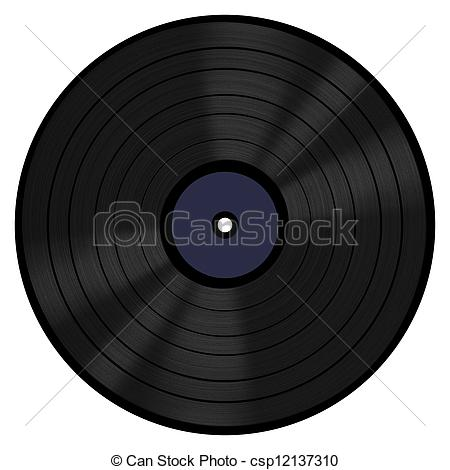 Stock Photography of Vinyl Record 33 RPM.