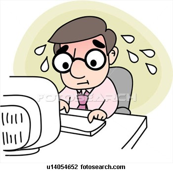 Clip Art of Being Stressed.