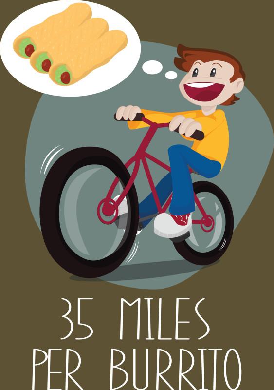 35 Miles Per Burrito Funny Food Lover.