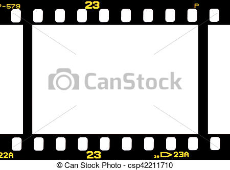 Stock Photography of photographic 35 mm film strip isolated on.