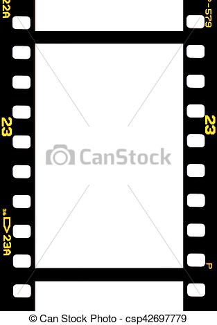 Picture of photographic 35 mm film strip isolated on white.