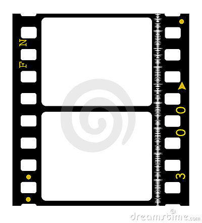 35mm Color Movie Film Stock Photo.