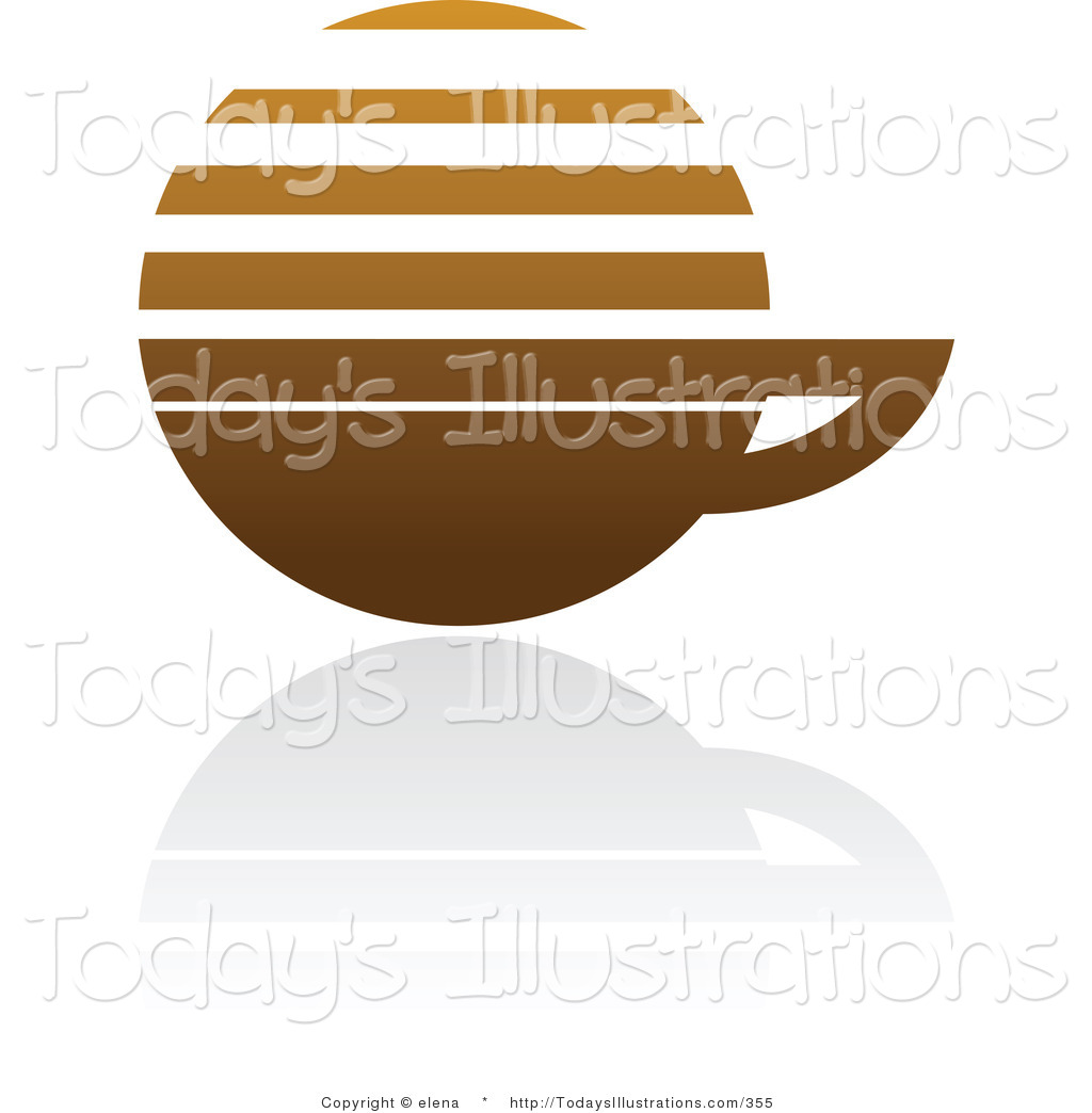 Clipart of a Brown Horizontal Lined Coffee Logo Design or App Icon.