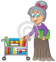 Librarian Stock Illustrations.