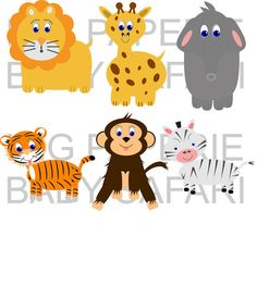Baby Cartoon Animals Clip Art.