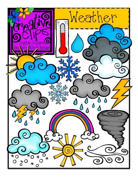 Weather {Creative Clips Digital Clipart} product from Creative.
