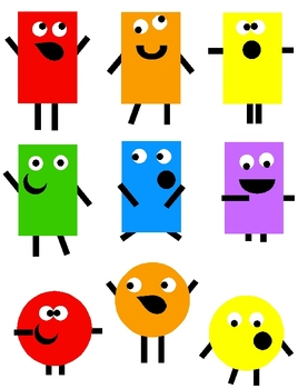 Shape Monsters Clip Art 36 PNG.