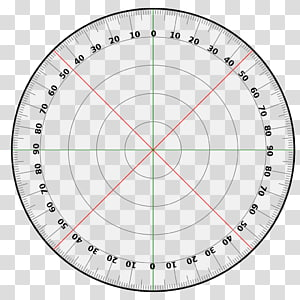 Protractor Circle Degree Template Turn, 360 Degrees.