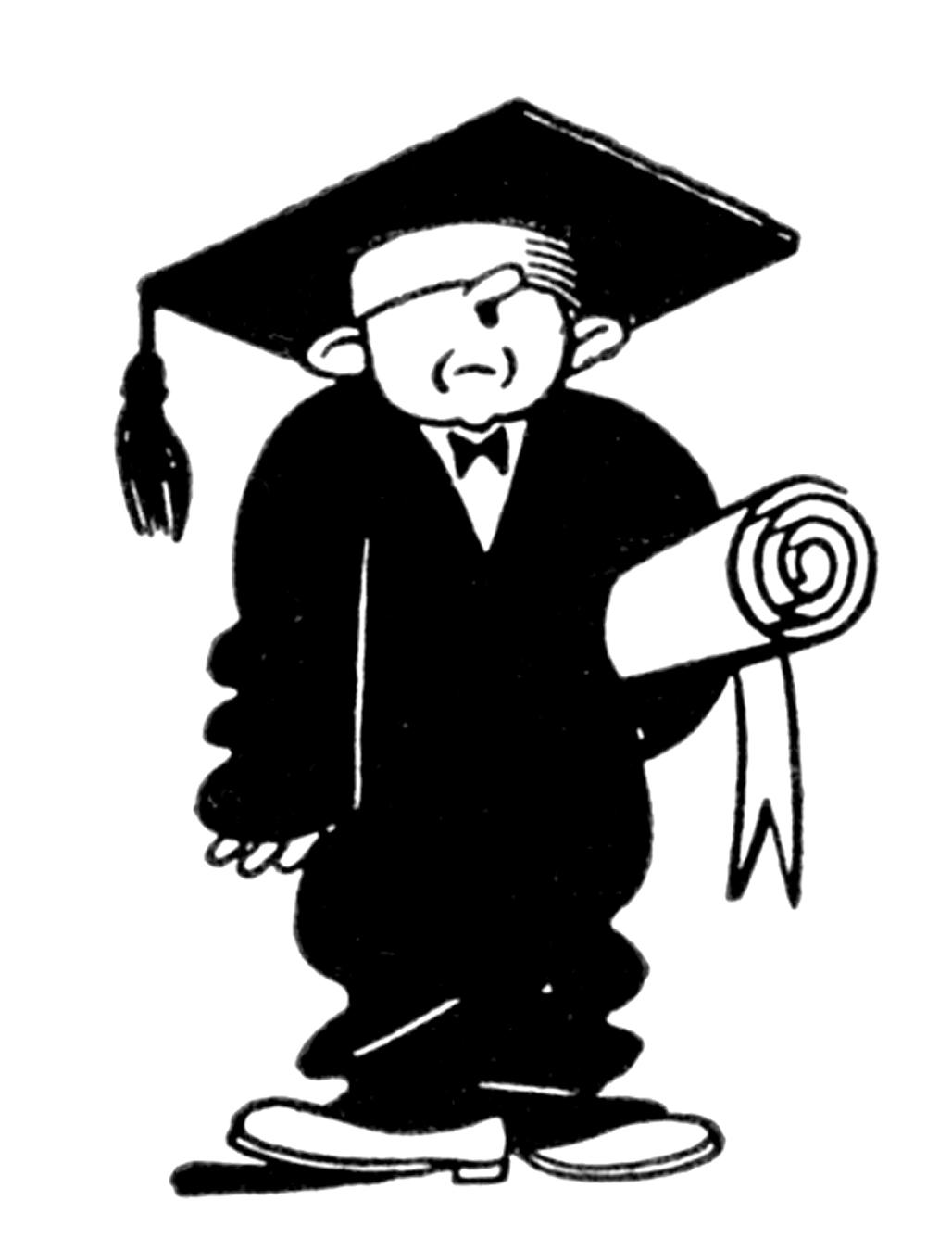Vintage graduation clip art.