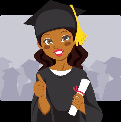 African American Graduate.