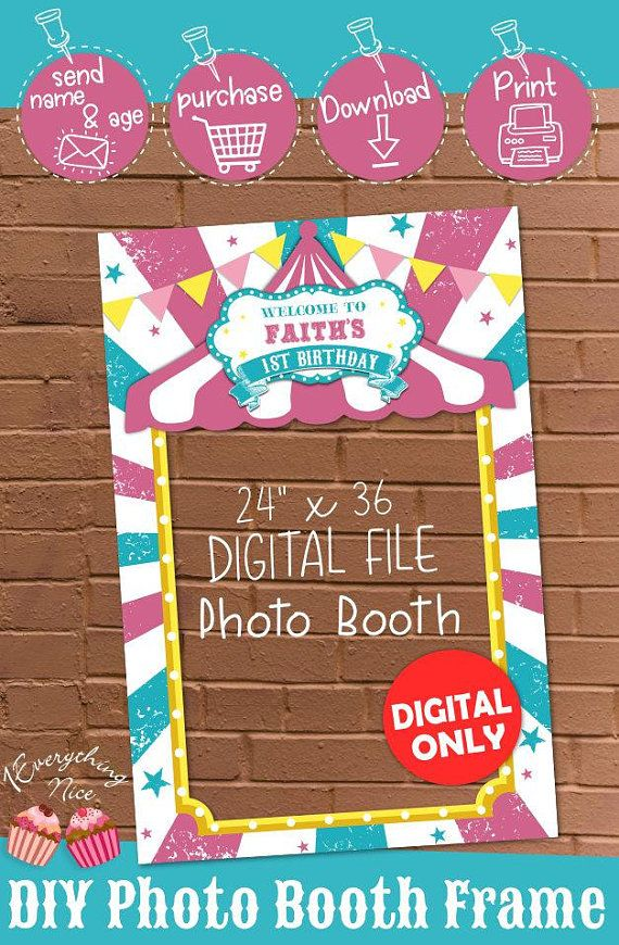 DIGITAL DOWNLOAD Pink Carnival Theme 24\