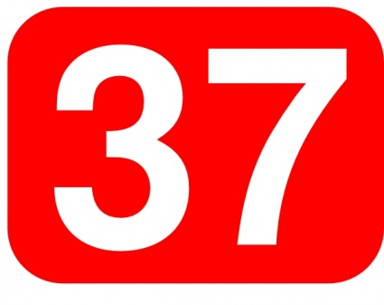 Number 37 Clipart.