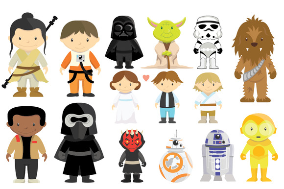 Star Wars Characters Clip Art.