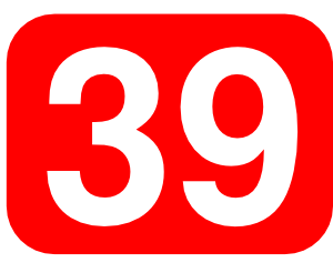 Red Rounded Rectangle With Number 39 clip art Free Vector / 4Vector.