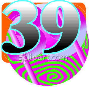 39 Numbers Clipart.