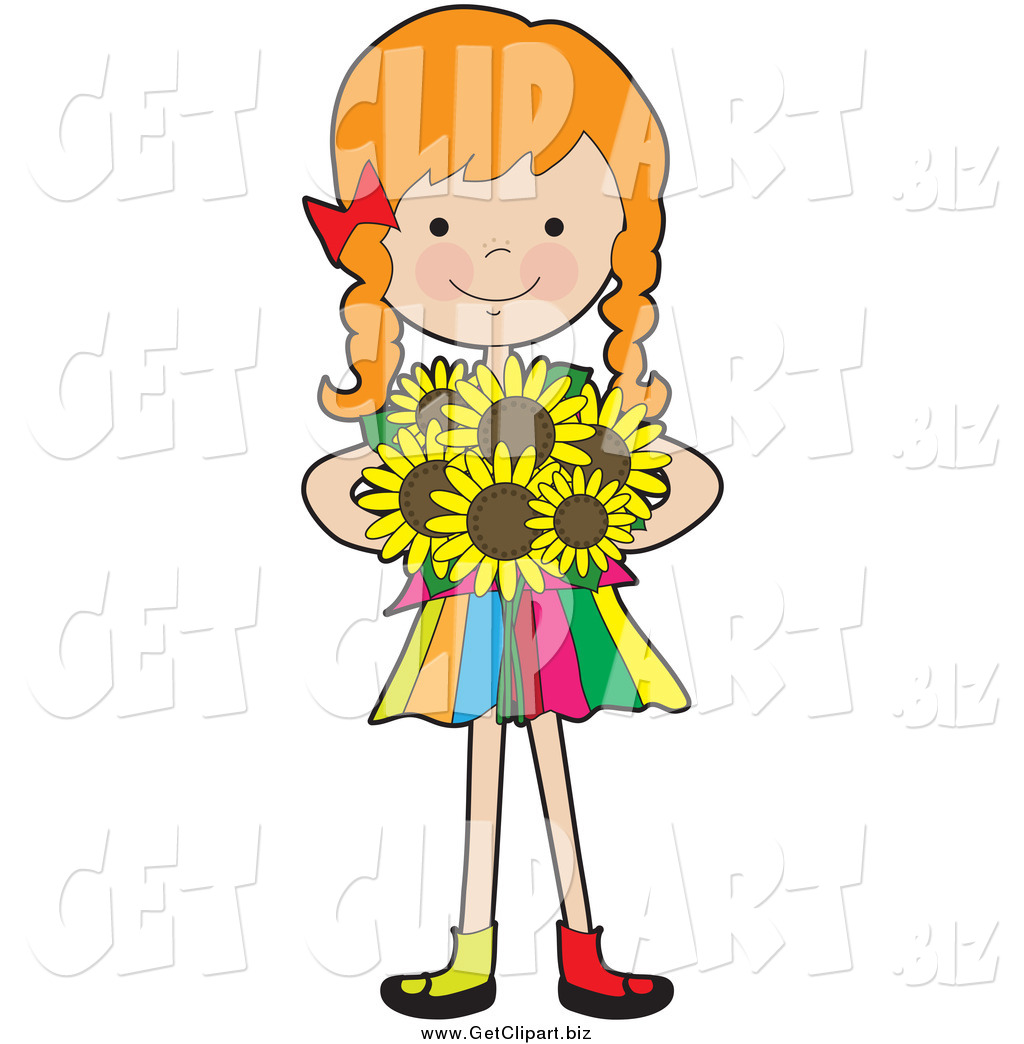 tiny girl clipart with sunflower 10 free Cliparts ...