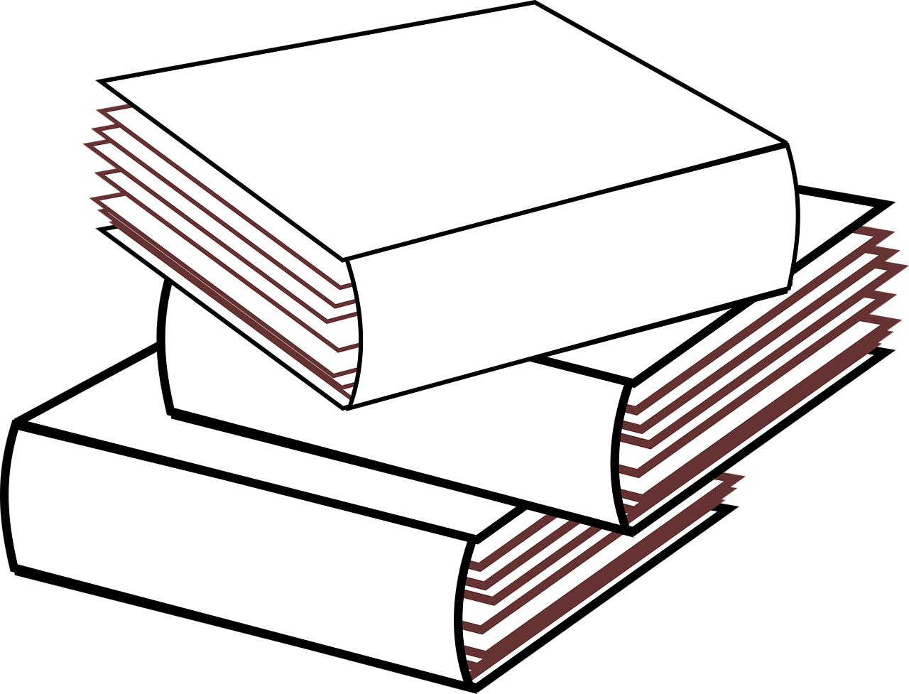 Download free photo of Stacked 3 books no color,stacked.
