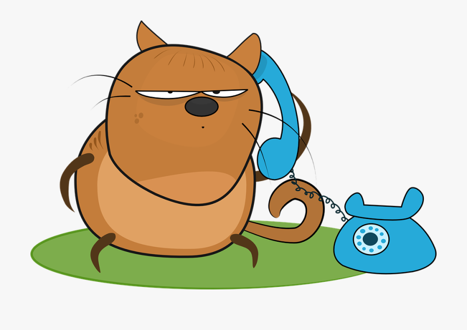 Clipart Of Telephone, 3 Cat And Angry Phone.