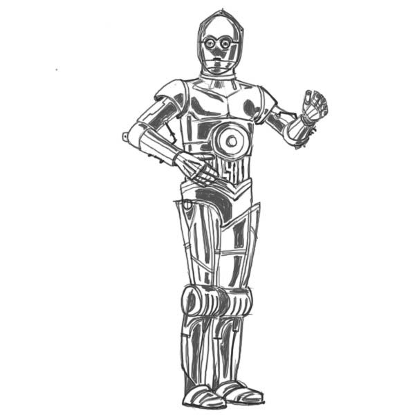 How to draw Star Wars characters.