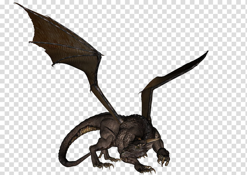 Dragon , gray D animated dragon transparent background PNG.