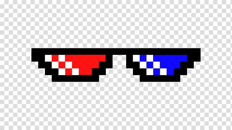 3D glasses pixel art, T.
