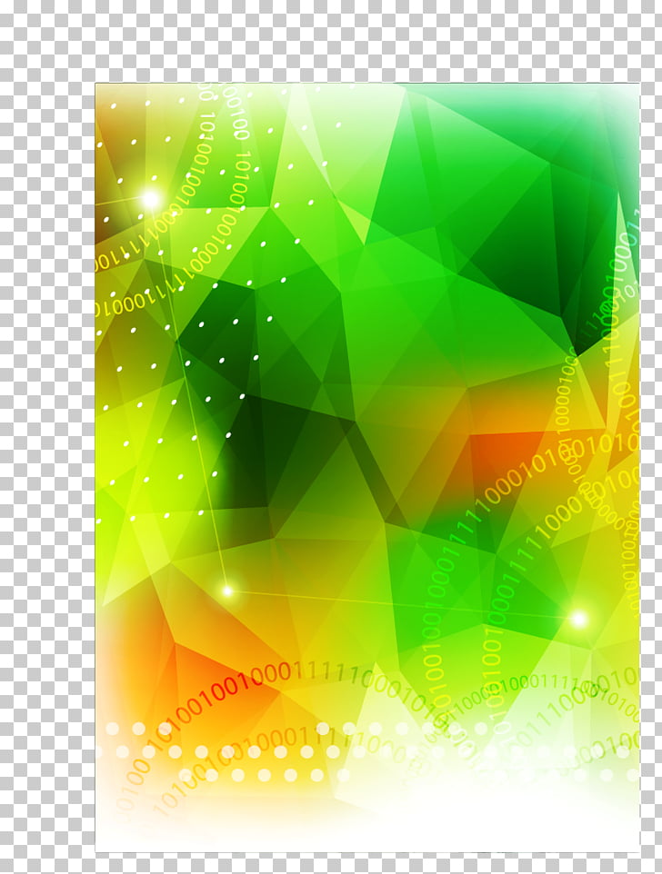 Graphic design Green, Green background, green and yellow 3D.