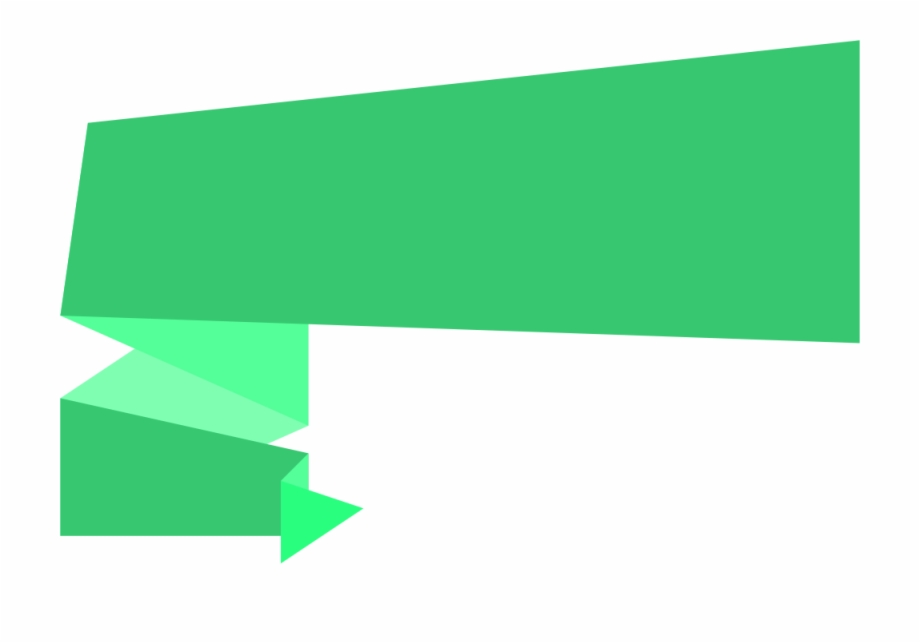 Free Download 3D Origami Banner Png.