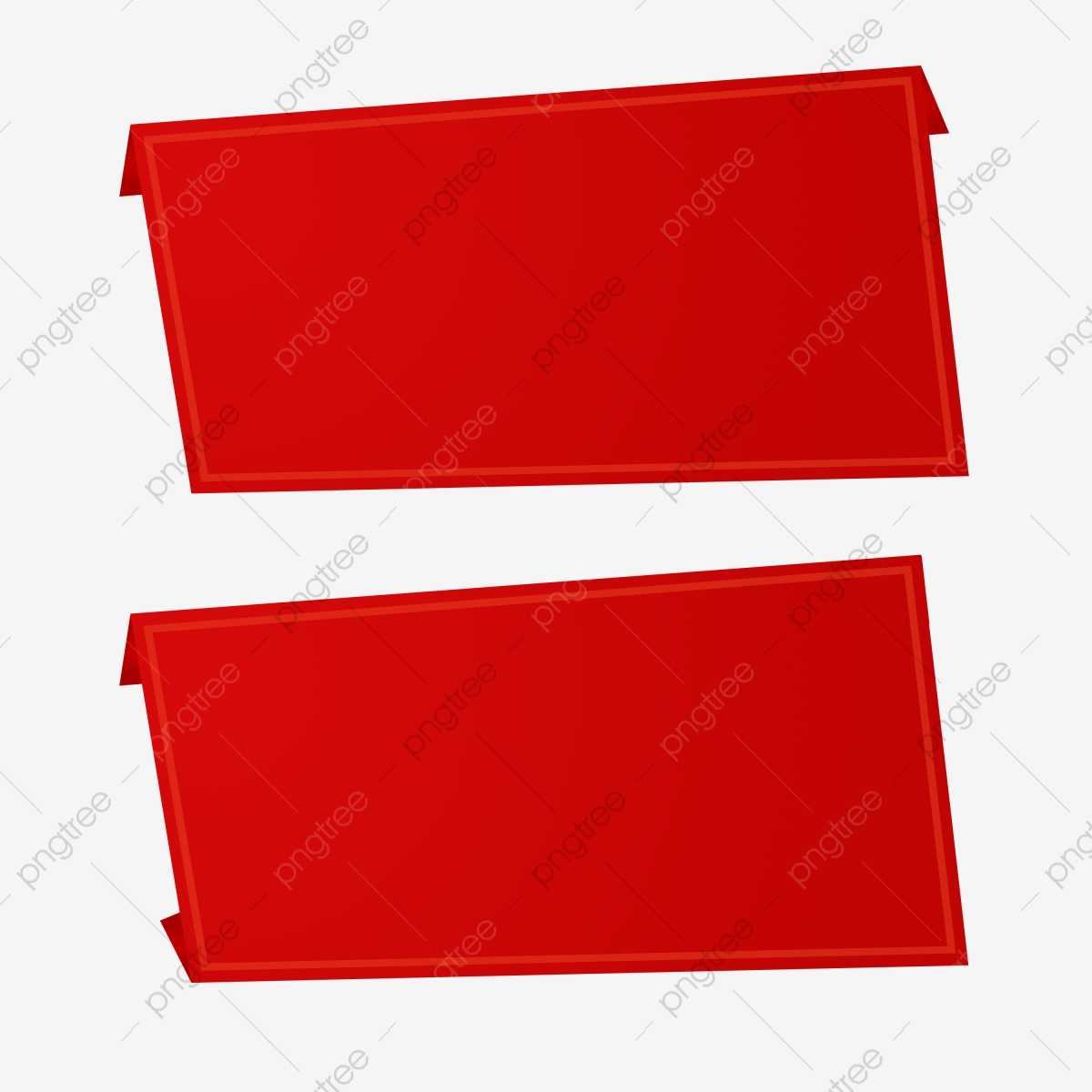Red Horizontal 3d Banner Cards Png Psd, Red, Horizontal, 3d PNG.