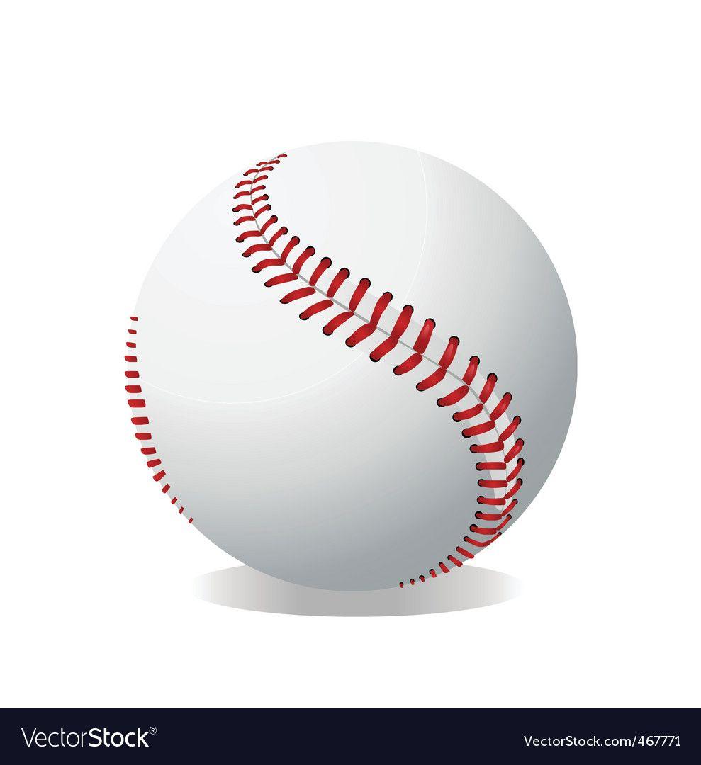 baseball stitching vector Baseball vector.
