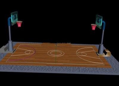 Basketball court 3Dmax model.