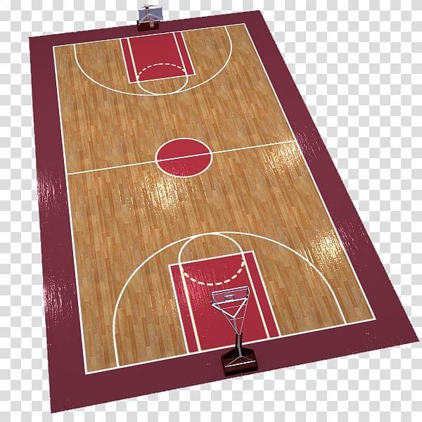 Basketball court TurboSquid 3D modeling, The red edge of the.