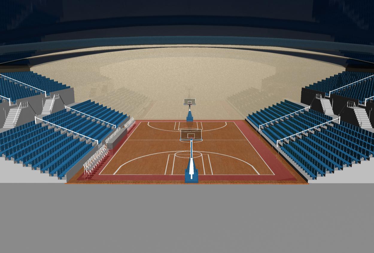 3d Basketball Court.