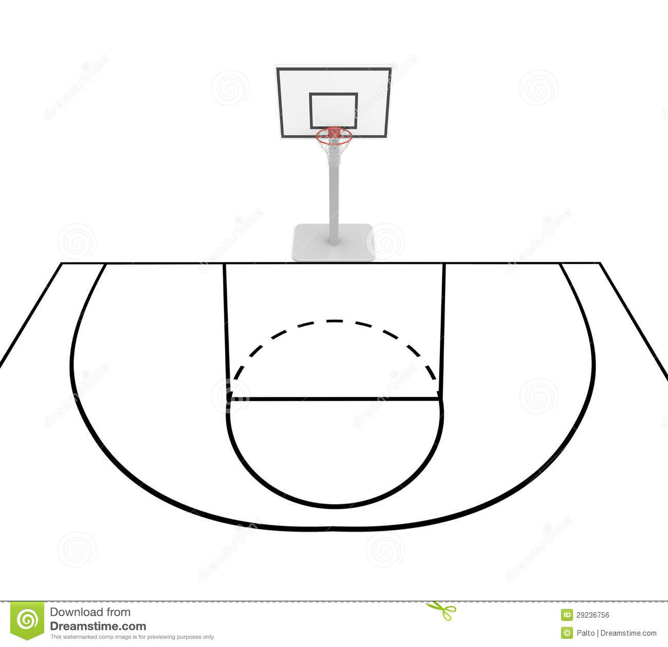 475 Basketball Court free clipart.