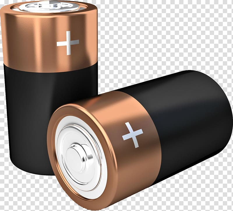 Two black batteries illustration, Battery 3D computer.