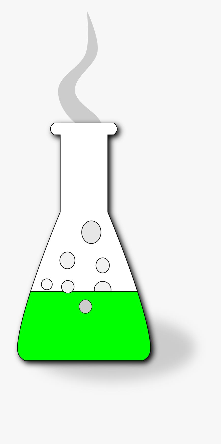 Green Clipart Beaker.