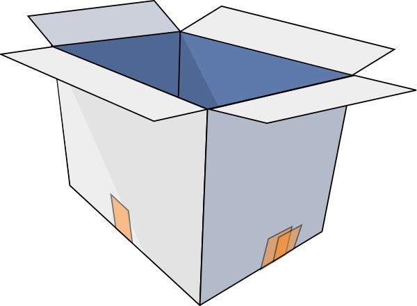 3d Empty Open Box clip art Free vector in Open office.