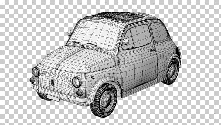 Fiat 500 Car BMW 3D modeling, fiat PNG clipart.
