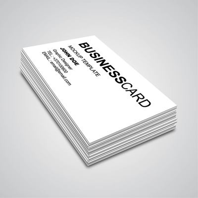 3D Corner Angle Business Card Mockup Clipart Picture.