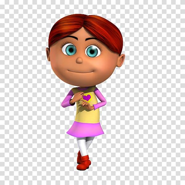 Cartoon Drawing Child Character, 3D villain transparent.