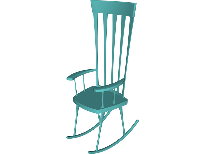 Rocking Chair 3D Model Download.