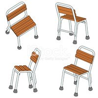 Four Chair (3d) Stock Vector.