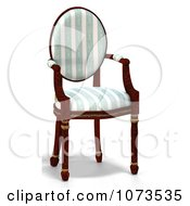 Clipart 3d Chair With A Black And White Cusion 1.