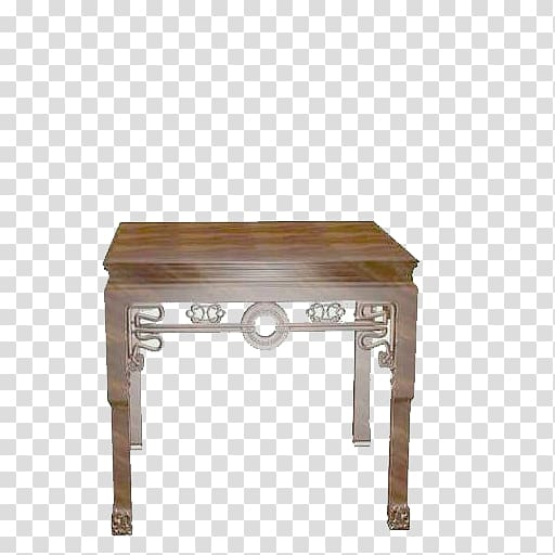 Table Chinese furniture Chair 3D modeling, table transparent.
