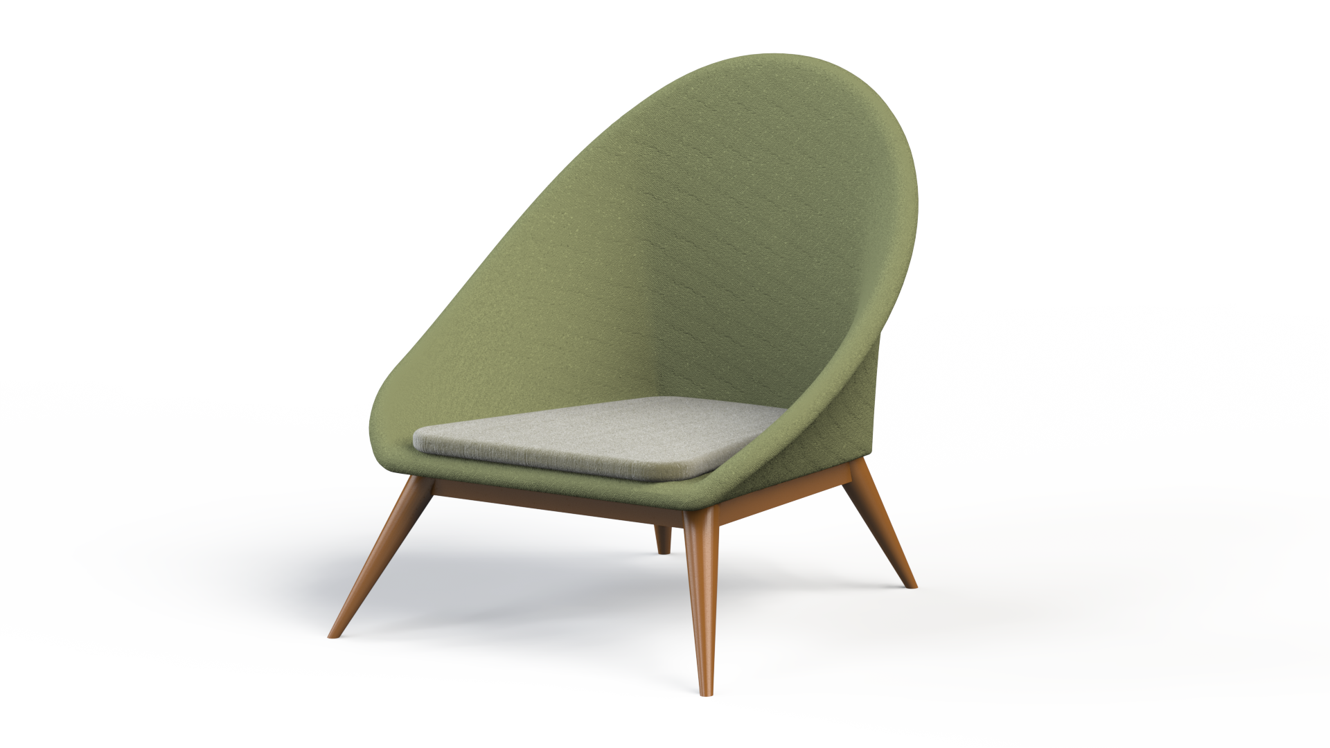 Egg chair, Design, 3d model, texture, lighting, rendering. by.